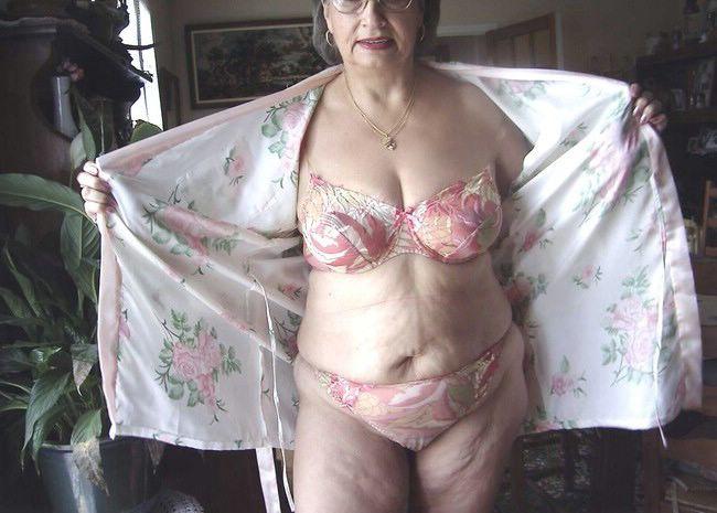 Mature women braless