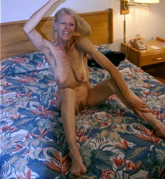 Granny naked in room